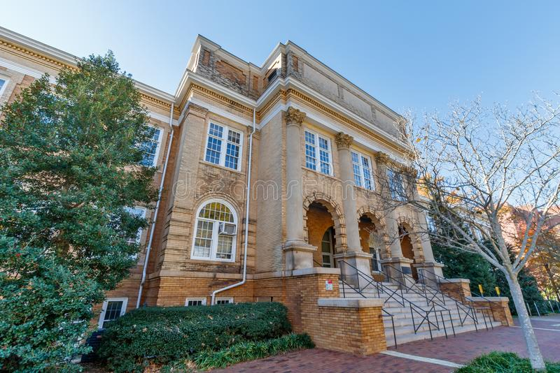 Patterson Hall at NC State University. RALEIGH, NC, USA - NOVEMBER 24: Patterson Hall, College of Agriculture and Life Sciences on November 24, 2017 at North royalty free stock photo