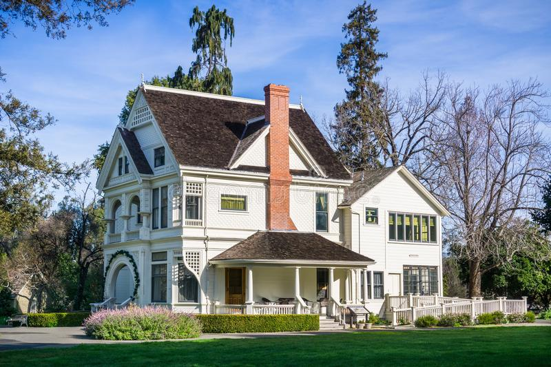 Patterson House on the grounds of Ardenwood Historic Farm. Local regional public park, east San Francisco bay area, California stock images