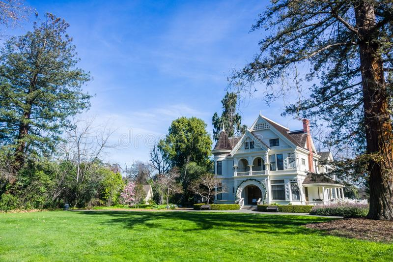 Patterson House on the grounds of Ardenwood Historic Farm. Local regional public park, east San Francisco bay area, California stock image