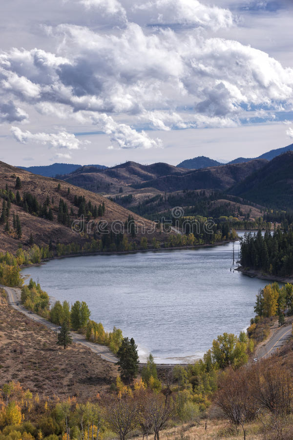 Patterson Lake in Winthrop, Washington. The scenic Patterson Lake near Winthrop, Washington in Okanogan County stock photo