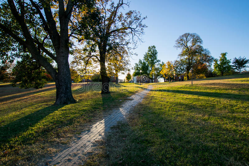 Patterson Park During Autumn a Baltimora, Maryland immagine stock