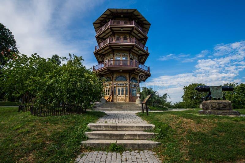 Patterson Park Pagoda a Baltimora, Maryland fotografia stock libera da diritti