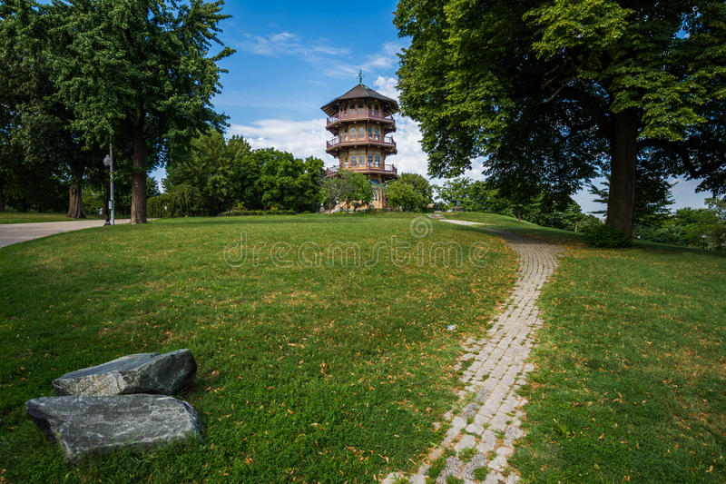 Patterson parka pagoda w Baltimore, Maryland zdjęcia stock