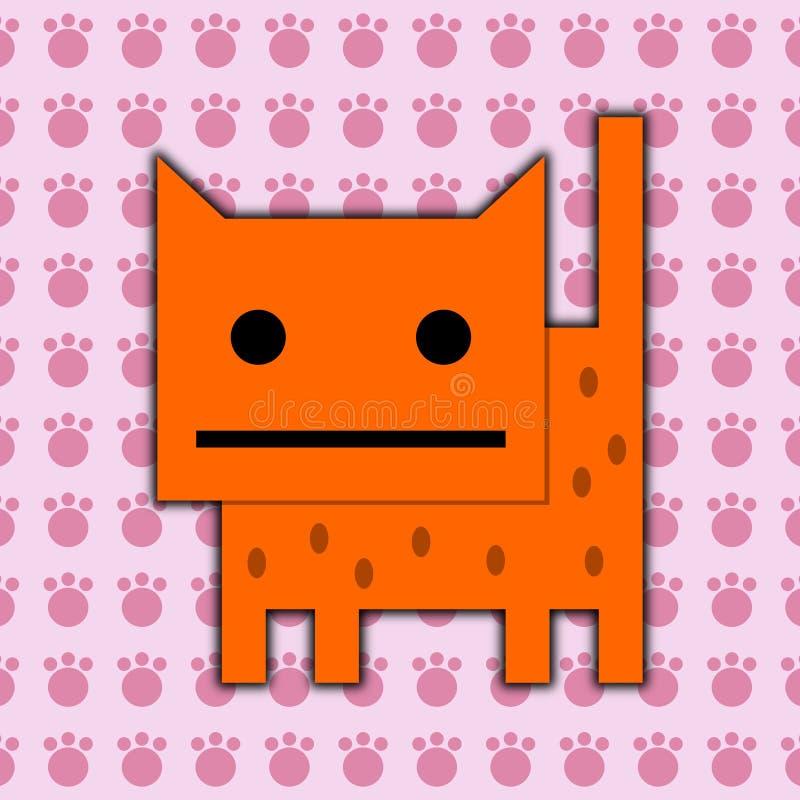 Pattes de chat illustration de vecteur