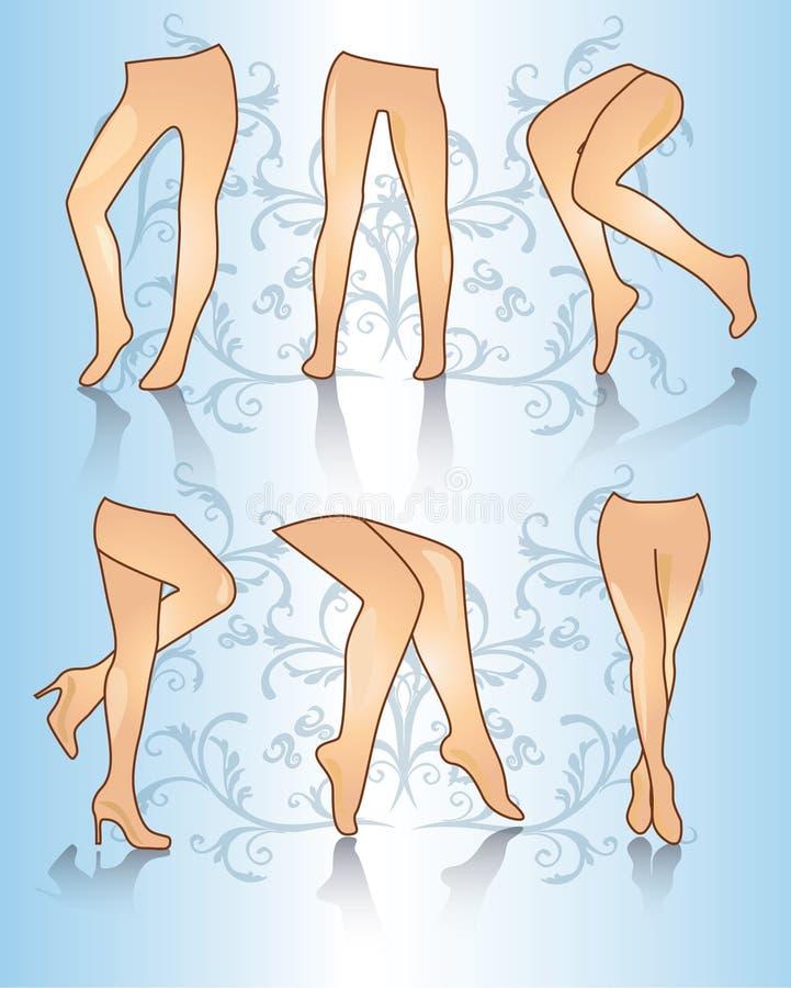 Pattes de femme illustration de vecteur