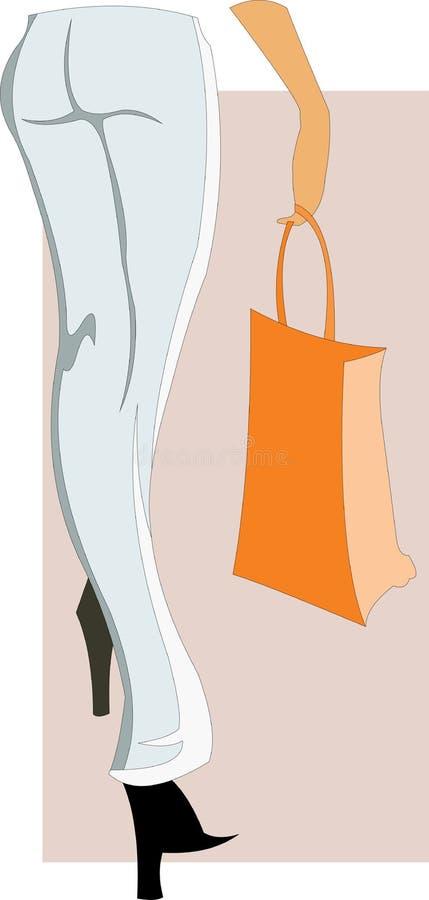Pattes de femme mince illustration stock