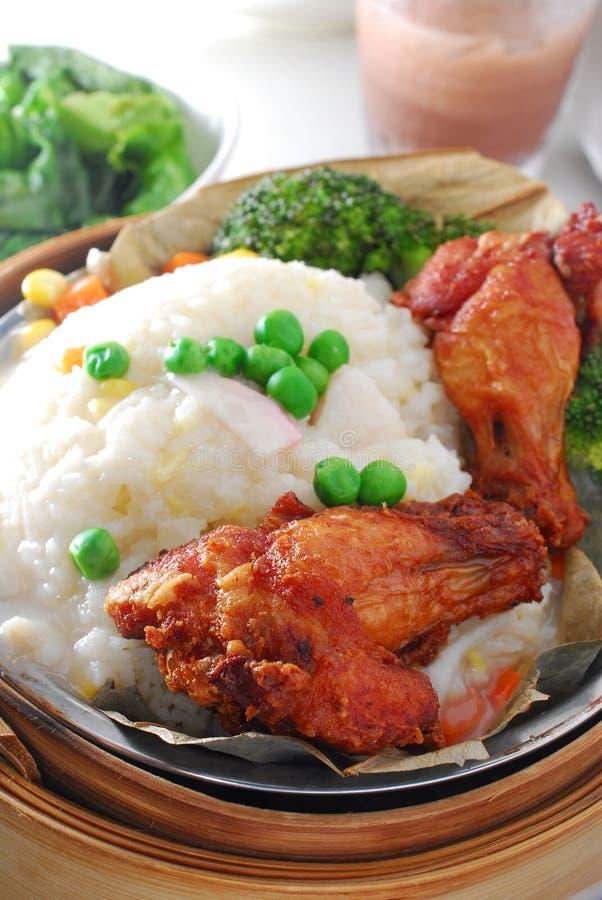 Pattes de poulet en riz visqueux photographie stock libre de droits
