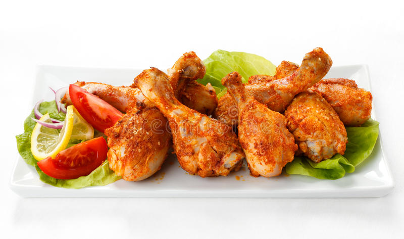 Pattes de poulet grillées photo libre de droits