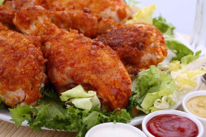 Pattes de poulet rôti photos libres de droits