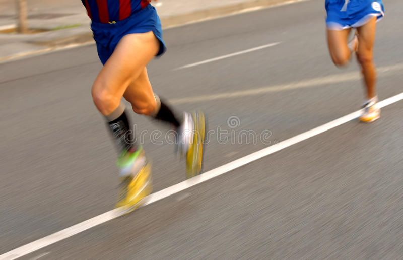 Pattes de turbine de marathon images stock