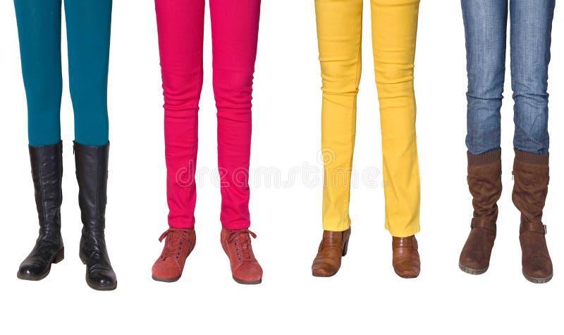 Pattes et chaussures femelles image libre de droits