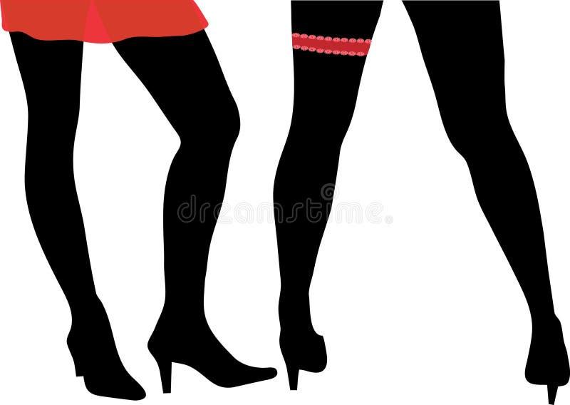 Pattes sexy de Womans illustration stock