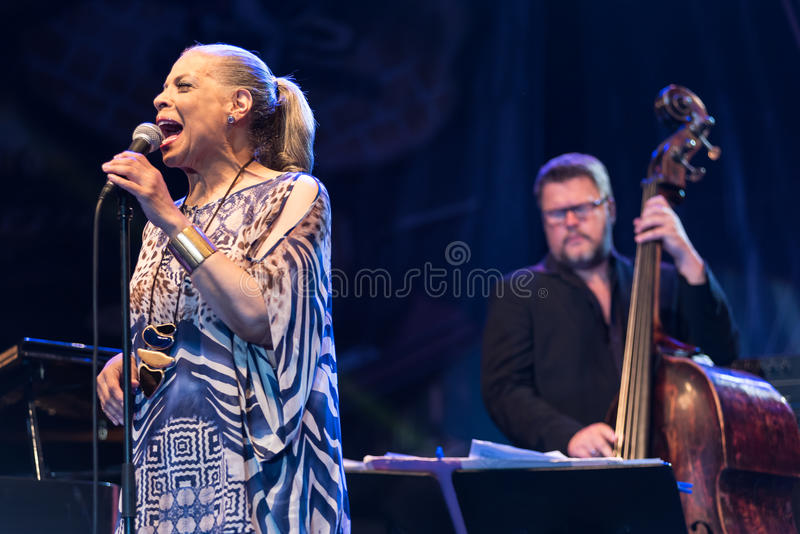 Patti Austin live at Nisville Jazz Festival, August 10. 2017 stock photos