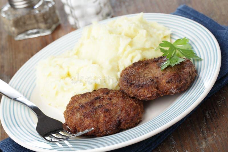 patties κρέατος πατάτα στοκ φωτογραφία με δικαίωμα ελεύθερης χρήσης