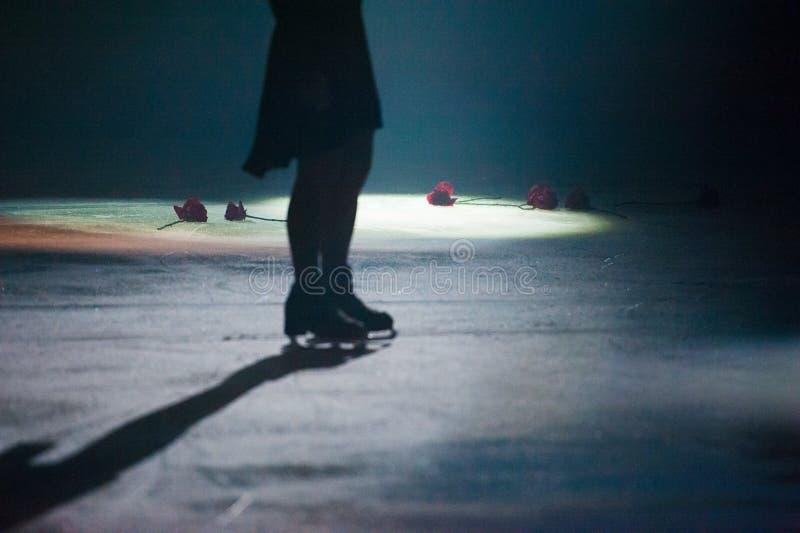 Pattinaggio artistico del ghiaccio fotografia stock