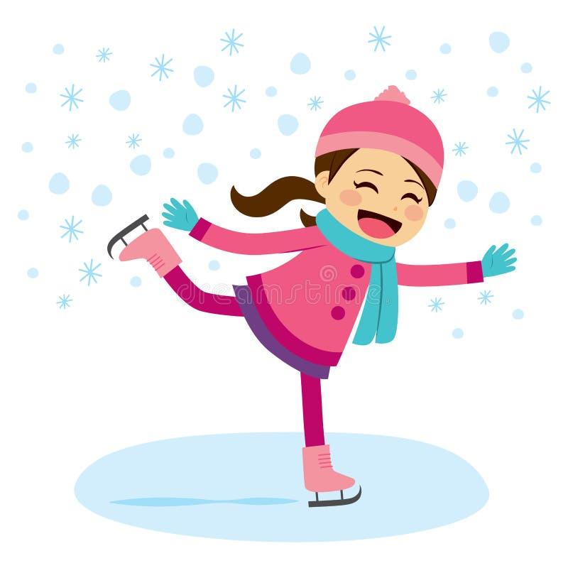 Pattinaggio su ghiaccio della ragazza royalty illustrazione gratis