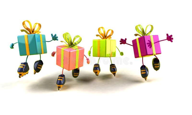 Pattinare dei regali royalty illustrazione gratis