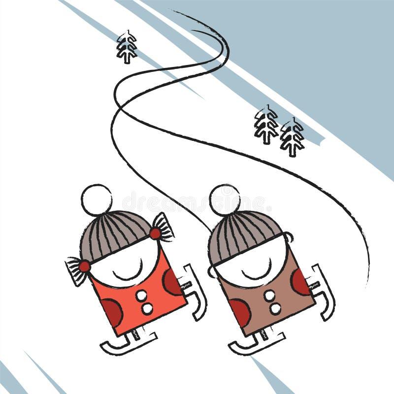 Pattinare di ghiaccio royalty illustrazione gratis