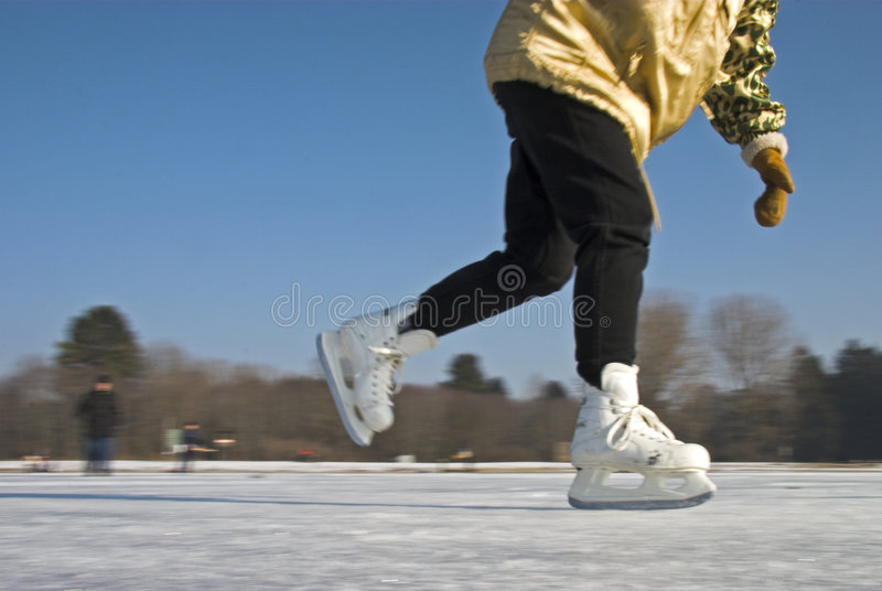 Pattinare di ghiaccio immagini stock