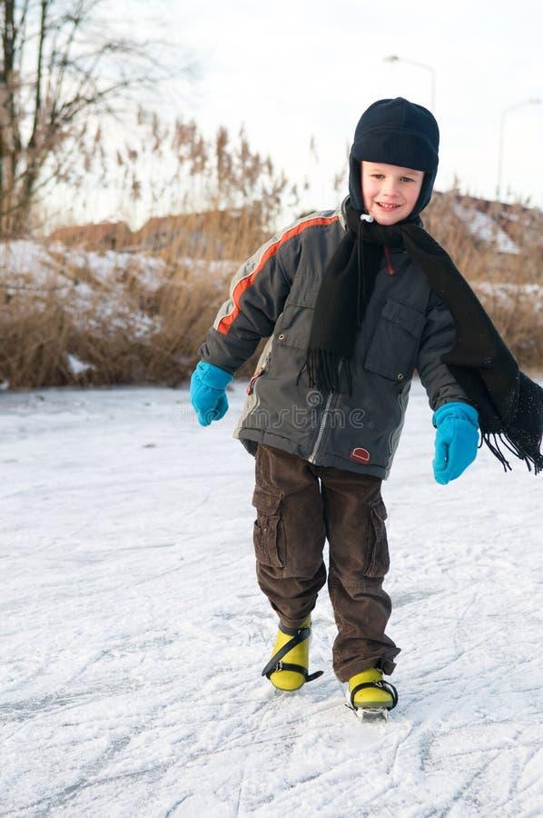 Pattinare di ghiaccio fotografia stock