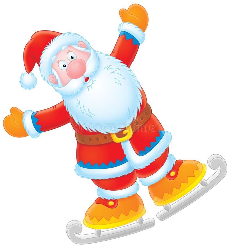 Pattinatore del Babbo Natale royalty illustrazione gratis