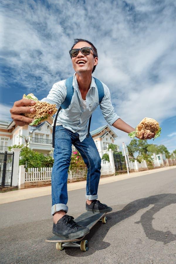 Pattinatore divertente fotografie stock libere da diritti