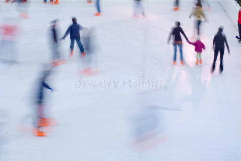 Pattinatori di ghiaccio fotografia stock libera da diritti
