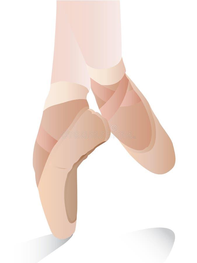 Pattini di balletto illustrazione di stock
