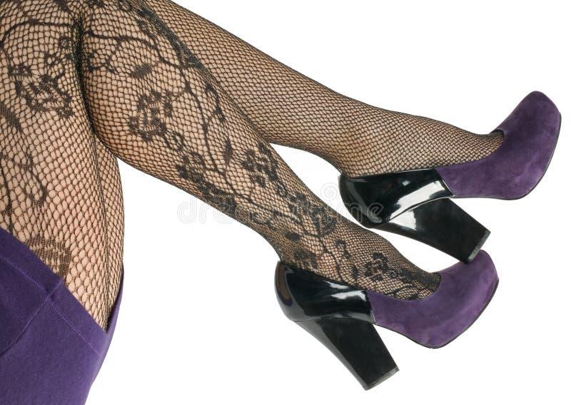 Pattini e calze, pantyhose. fotografia stock