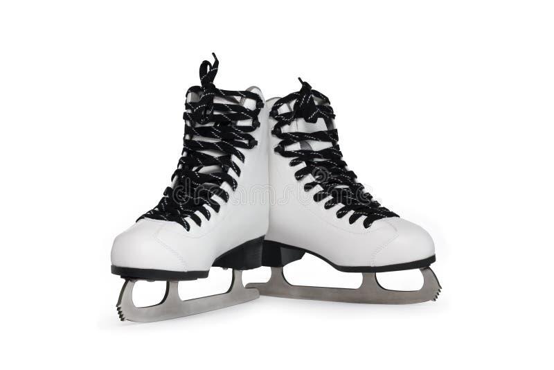 Pattini pattinare di ghiaccio fotografie stock libere da diritti