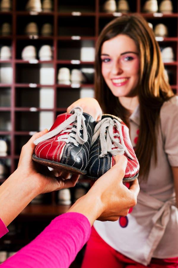 Pattini per il bowling fotografie stock libere da diritti