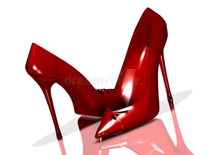 Pattini rossi illustrazione di stock