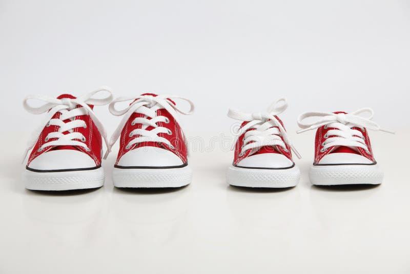 Pattini rossi isolati su bianco fotografia stock libera da diritti