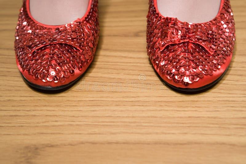 Pattini Sparkly rossi fotografia stock