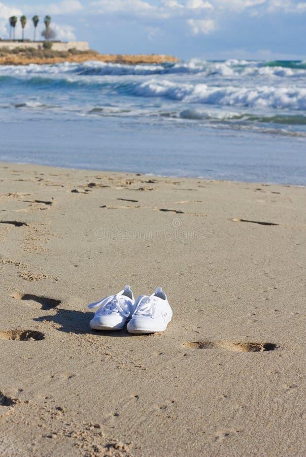 Pattini sulla spiaggia fotografie stock libere da diritti