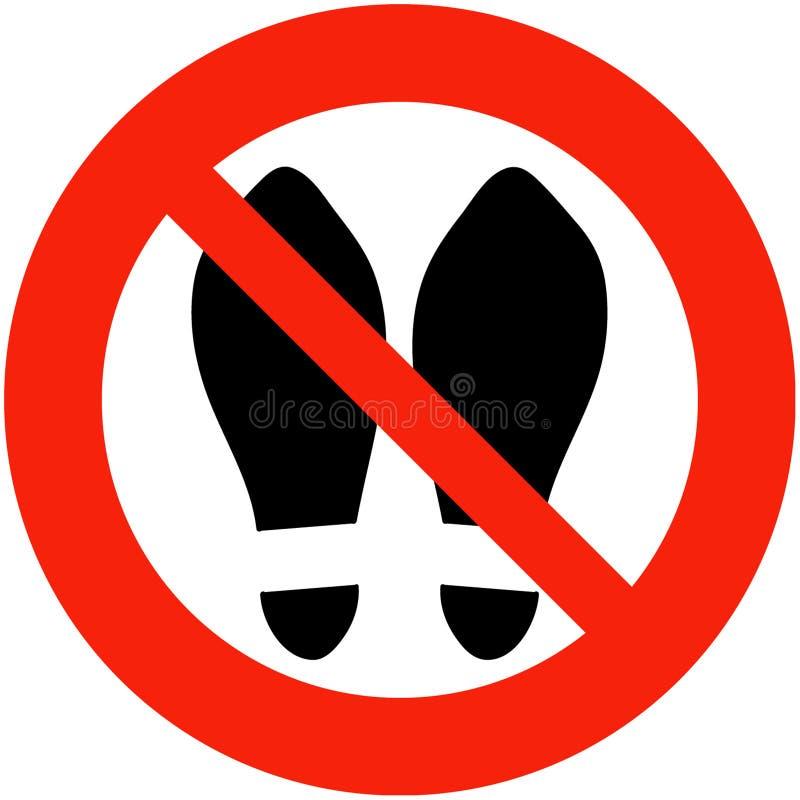 Pattini vietati illustrazione vettoriale