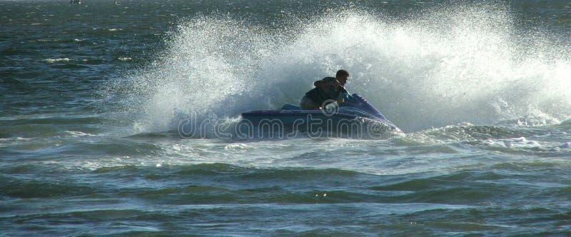 Download Pattino del jet immagine stock. Immagine di oceano, gioia - 201809