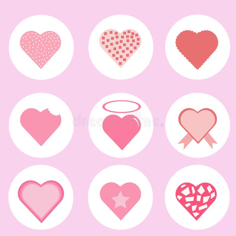 Patton love,icon heart,vector royalty free stock image