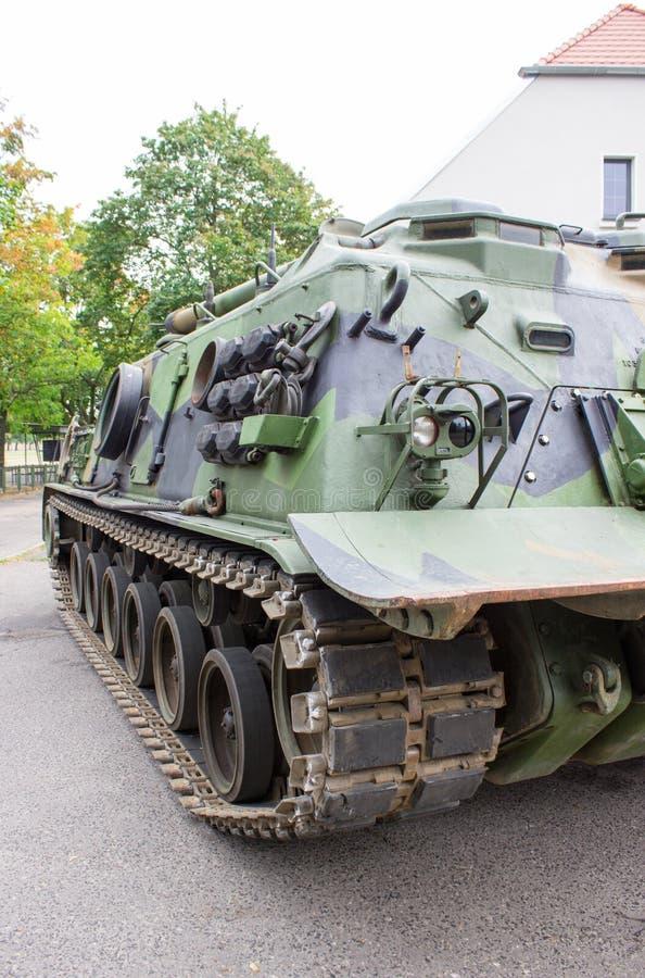 Patton M-88 - amerikanisches gepanzertes Bergungsfahrzeug lizenzfreie stockbilder