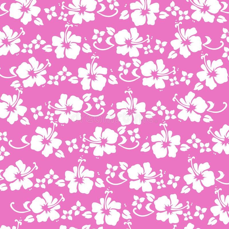 pattren hibiskus gorący różowy royalty ilustracja