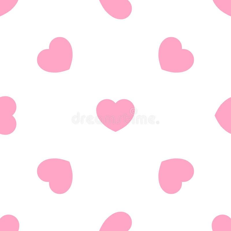 Patttern senza cuciture romantico dei cuori svegli di rosa Struttura per le carte da parati, tessuto, involucro, ambiti di proven illustrazione vettoriale