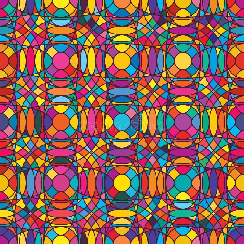 Patttern senza cuciture syymetry di colore orizzontale vertcial del cerchio illustrazione di stock
