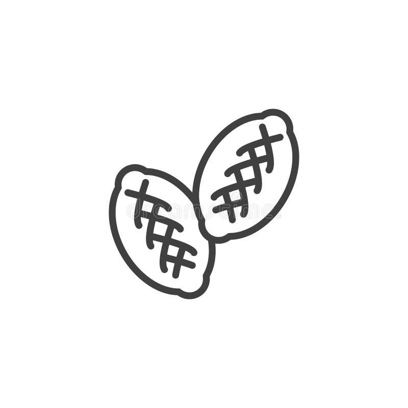Patty, ícone de linha de patty ilustração do vetor