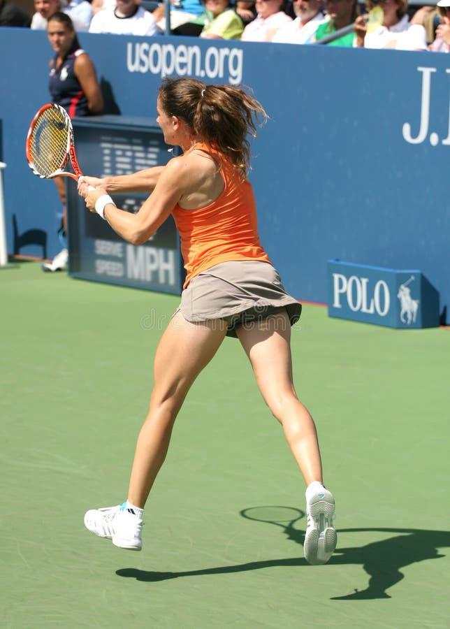 patty tenis schnyder backhand obraz stock