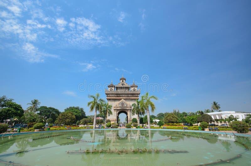 Patuxai老挝 库存照片