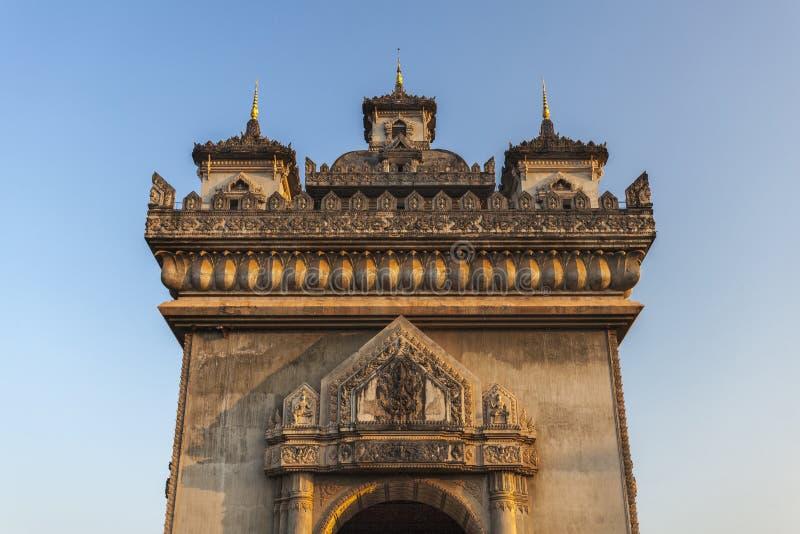 Patuxai Вьентьян, Лаос стоковая фотография rf