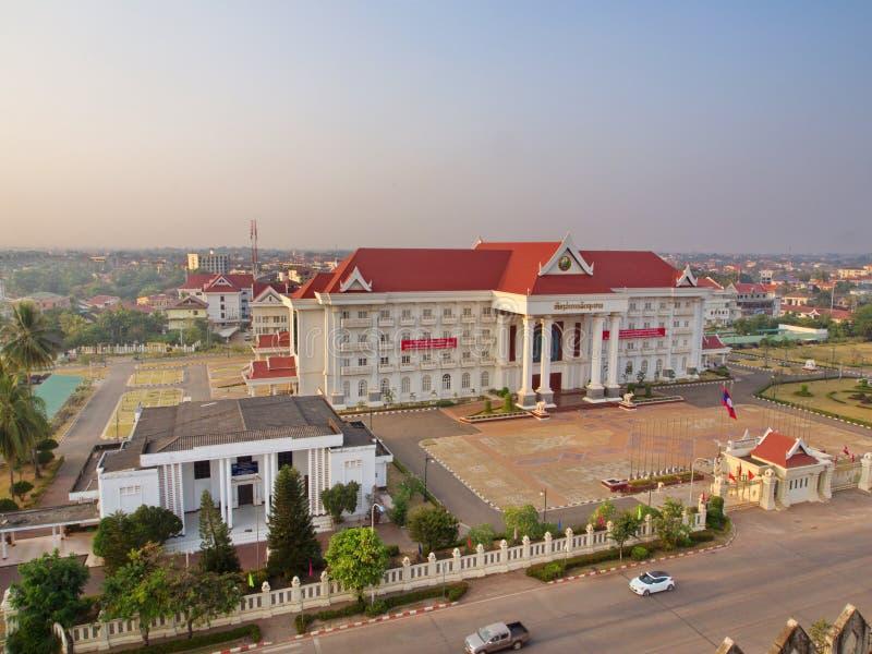 Patuxai памятник войны в центре Вьентьян, Лаоса, buil стоковая фотография rf