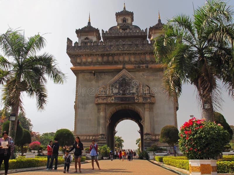 Patuxai-Monument - Vientiane - Laos lizenzfreie stockfotos