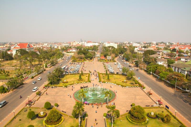 Patuxai park obrazy royalty free