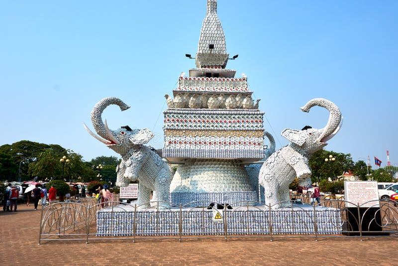 Patuxai Victory Monument Attractive Landmark von Vientiane-Stadt von Laos stockbild